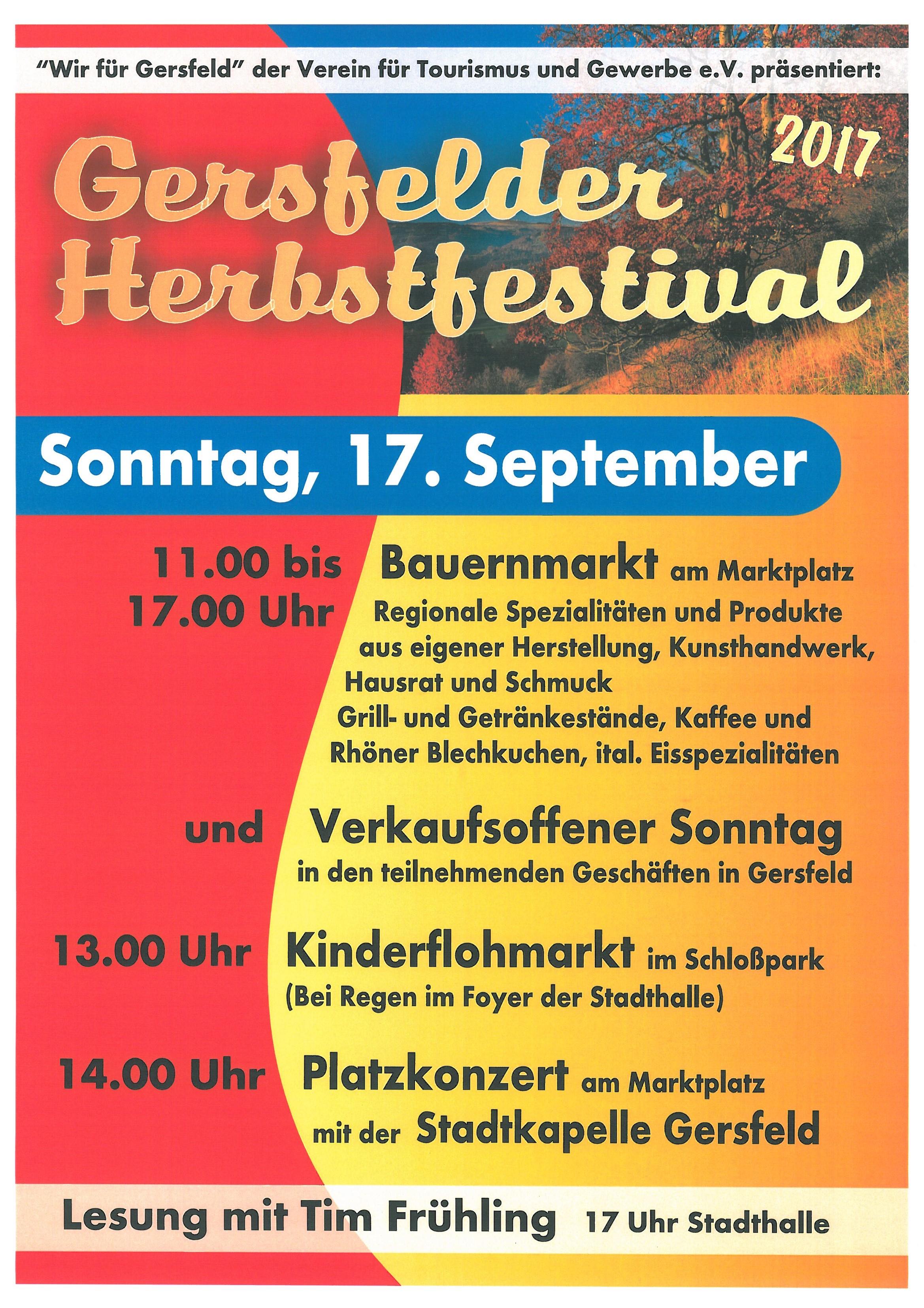 Bauernmarkt Herbstfestival & verkaufsoffener Sonntag am 17. September