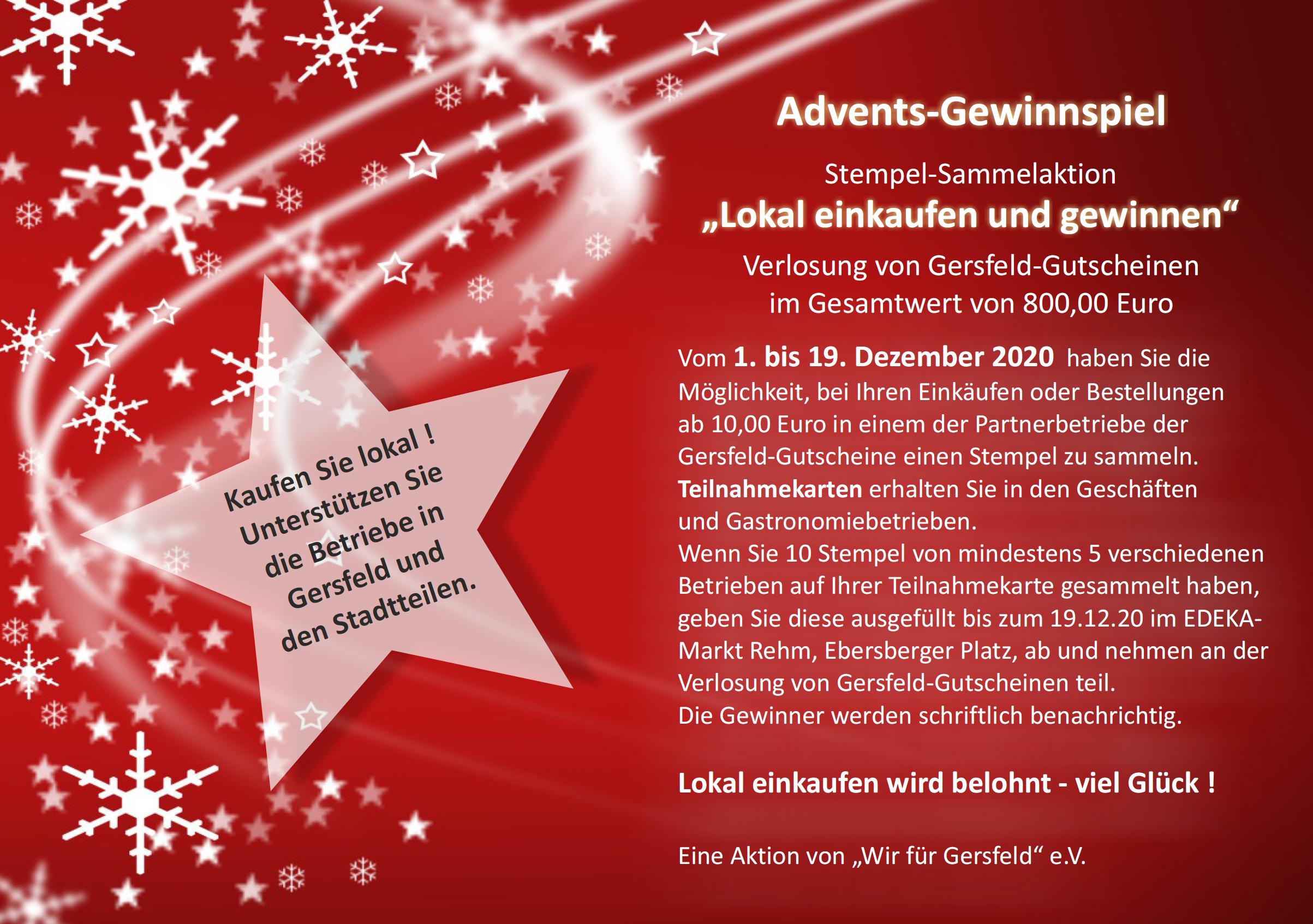 Gersfelder Adventskalender & Gewinnspiel